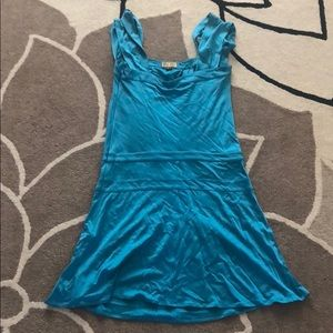 New Issa Silk Blue Green Teal Turquoise Dress 2